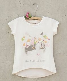 This Cream Meow Tee - Toddler & Girls is perfect! #zulilyfinds
