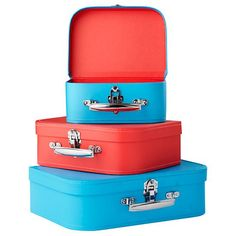 Bon Voyage Suitcase Set (Blue/Red)