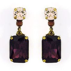 Sorrelli Sundance.  Crystal earrings featuring a large burgundy crystal set in antique gold.  Fall earrings with a vintage flair at Perfect Details.