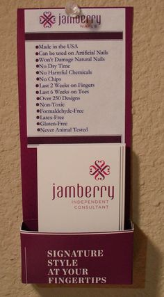 Recycled Business Card Holder The Misadventures of a Multi-Crafteer: Reuse and Recycle! Jamberry Vendor, Jamberry Party, Jamberry Display, Jamberry Nails Consultant, Jamberry Tips, Jamberry Nail Wraps, Business Card Displays, Business Card Holders, Sales And Marketing