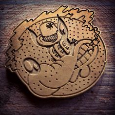 Brass engraving wordtoMother bespoke cnc maching