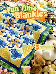 New Quilt Patterns - Fun Time Blankies - QUILTING - 5 adorable patterns: elephants, ducks, rocking horses, bears, planes - adorable for any baby/child's room