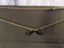 Black Handlebar Moustache Novelty Necklace (J8) Novelty Gifts, Moustache, Costume Jewelry, Jewelry Accessories, Gold Necklace, Black, Fashion, Moda, Mustache