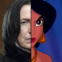 Everyone Is A Combo Of One Harry Potter And One Disney Character — Who Are You? Snape-Jasmine