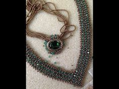 """""""V"""" Bling Necklace - A Bronzepony Beaded Jewelry Design - YouTube"""