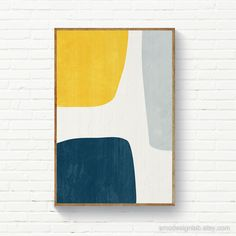 Instant Download Abstract Printable Art, Large Size Prints, Yellow Navy Blue Gray, Organic Shapes Print Navy Mustard, Printable Art Abstract Geometric Art, Abstract Wall Art, Yellow Artwork, Decoration Plante, Arte Sketchbook, Mellow Yellow, Mustard Yellow, Organic Shapes, Modern Prints