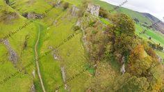 Peveril Castle, Derbyshire  http://www.alungruffydd.com/  Peveril Castle English Heritage Derbyshire Aerial Photography DJI Phantom AlunGruffydd