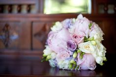 beautiful pink and purple bridal bouquet {via Blossom Wedding Flowers}
