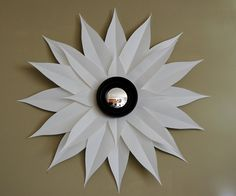 diy sunburst mirror... so fun!  Could I possibly love white any more than I do?  Will it one day get old?