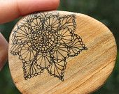Wooden Doily Brooch - Salvaged Repurposed Timber Wood - Handcrafted