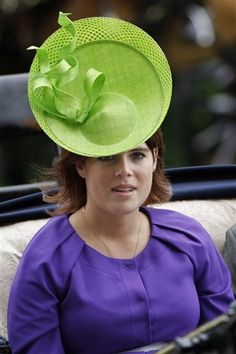 princess eugenie | Princess Eugenie arrives at Royal Ascot in a pea green hat
