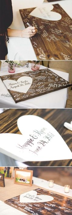 22 alternative wedding guest book rustic wood guestbook wedding decor creative wedding guest book alternatives 3 delivers online tools that help you to stay in control of your personal information and protect your online privacy. Wooden Wedding Guest Book, Wood Guest Book, Wedding Book, Dream Wedding, Wedding Day, Trendy Wedding, Wedding Ceremony, Guest Book Ideas For Wedding, Wedding Sign In Ideas