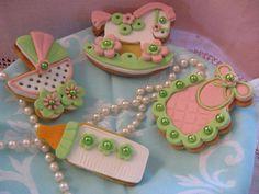 biscotti decorati per battesimo verde rosa. Omar Busi