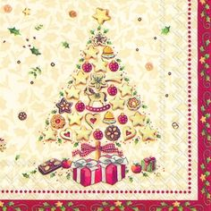 3581 Servilleta decorada Navidad
