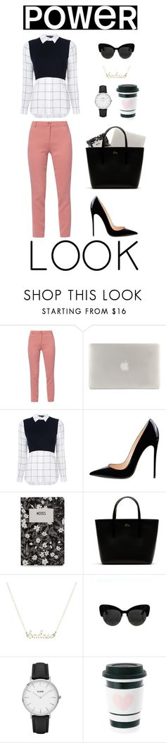 """""""GIRL POWER: Power Look"""" by mihaliakt1 on Polyvore featuring WtR London, Tucano, Alice + Olivia, Design Letters, Lacoste, CLUSE, Miss Étoile, girlpower and powerlook"""