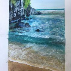 Watercolor Ocean, Waves, Outdoor, Outdoors, Ocean Waves, Outdoor Games, The Great Outdoors, Watercolor Sea, Beach Waves