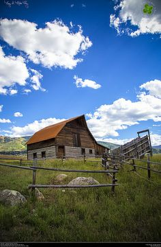 More Barn.  Steamboat Springs, Colorado. Looky a cattle shoot, Oh how I miss those!