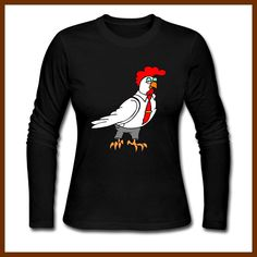 Fashion Cool Style Clipart Chickens And Roosters T Shirts Women Cool Printed Woman Tops Tee Long Sleeve Female t-shirt Euro Size Chickens And Roosters, Euro, Cool Style, Long Sleeve Tees, Clip Art, Printed, Female, Woman, Sweatshirts