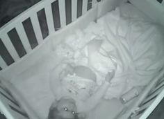Toddler's sweet prayer caught on baby monitor video.