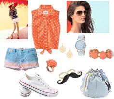 """""""Orange If You Wanna"""" by tran-mik on Polyvore"""