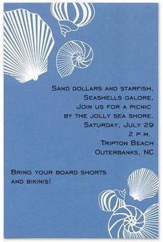 Creative wording for summer party invitations