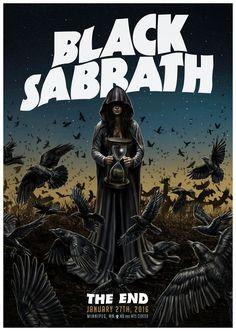 Black Sabbath The End Hard Rock, Heavy Metal Rock, Heavy Metal Music, Black Sabbath The End, Design Club, Print Design, Print Print, Black Sabbath Concert, Rock Vintage