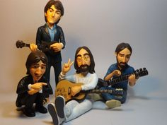 BEATLES ABBEY ROAD FIGURES DOLLS statue  #Figurines