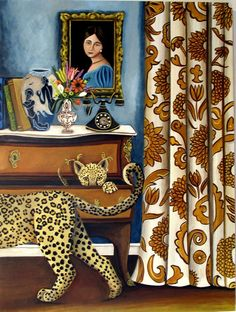 Art Themes, Pattern Art, Art Patterns, Botanical Prints, Funny Design, Cat Art, Art Education, Fine Art Paper, Original Paintings