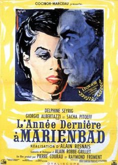 L'Année dernière à Marienbad (released in the US as Last Year at Marienbad and in the UK as Last Year in Marienbad) is a 1961 French film directed by Alain Resnais from a screenplay by Alain Robbe-Grillet.