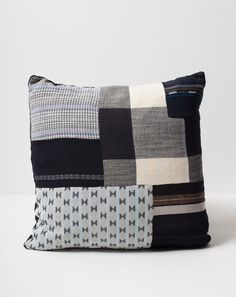 Ace & Jig Patched Pillow in Domino