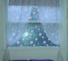 Janela vitral liso. #simplesassimdecorar