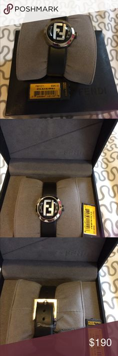 Fendi Watch Beautiful unique authentic black Fendi watch can be paired with anything in your wardrobe enjoy, only for memorial day sale get it while you can. Fendi Jewelry