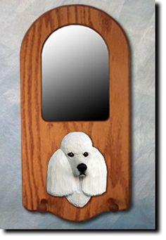 6 Coat Styles-Poodle Portrait Mirror. Home Decor. Dog Figure Wood Design Products & Gifts. #PSMarketingINC