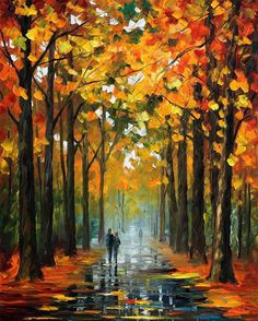 """The Rain Is Gone 2 — PALETTE KNIFE Landscape Oil Painting On Canvas By Leonid Afremov - Size: 24"""" x 30"""" inches (60 cm x 75 cm)"""