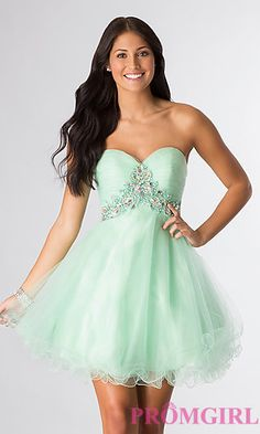 Short Strapless Prom Dress at PromGirl.com THIS NEEDS TO BE MY DRESS