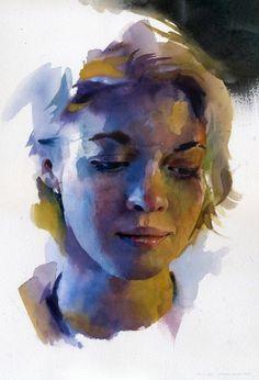 Watercolour Portrait by Stan Miller