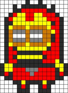 Iron Man Minion  perler bead pattern