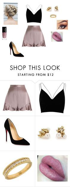 """""""Fun Little Night Out"""" by brophyash ❤ liked on Polyvore featuring Zimmermann, River Island, Christian Louboutin, Ruth Tomlinson, Lord & Taylor and Guerlain"""