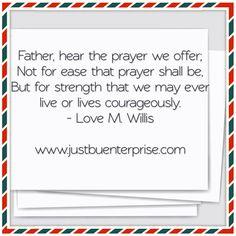 Prayer, strength, courage
