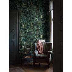 Madagascar Leaves by Boråstapeter - Dark Green - Mural : Wallpaper Direct