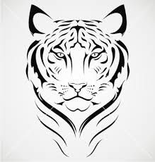 Image result for tiger tattoo vector