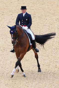 Jan Ebeling of the United States riding Rafalca competes in the Dressage Grand Prix on Day 6 of the London 2012 Olympic Games at Greenwich Park on August 2, 2012 in London, England. 70.243%