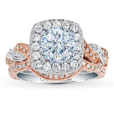 if he went to jared.... I would want something like this. love the two-tone rose gold!