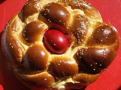 GREEK EASTER SWEET BREAD.