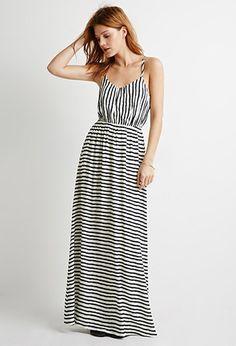 Stripe Cutout-Back Maxi Dress   Forever 21 - 2002247409