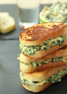 Spinach Artichoke Melts Sandwich Recipe