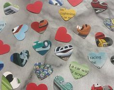 Disney Cars Boys Paper Hearts Confetti Birthday Party Wedding Baby Shower Decoration Table Scatters Embellishments