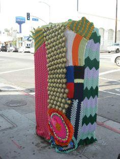 Crochetage? Art Soup NELA - Yarnbombing Los Angeles