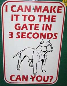 Beware of dog sign~ I will have this and 2 dogs to go with it :)