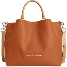 Dooney & Bourke Large Barlow Tote ($368) ❤ liked on Polyvore featuring bags, handbags, tote bags, natural, handbags totes, leather handbag tote, slouchy leather tote, genuine leather tote and leather handbags